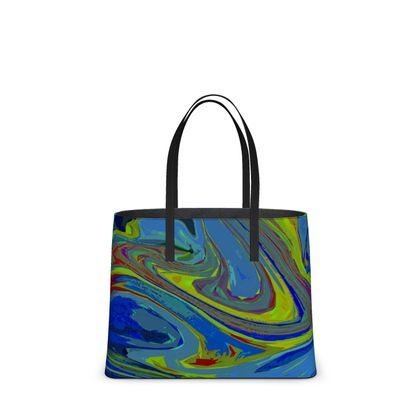 Kika Tote - Abstract Diesel Rainbow 3