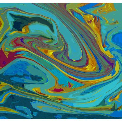 Ladies Bomber Jacket - Abstract Diesel Rainbow 1