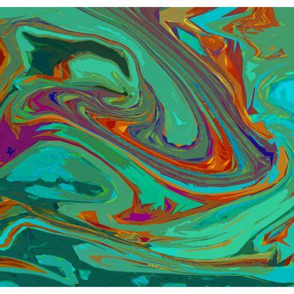 Ladies Bomber Jacket - Abstract Diesel Rainbow 2