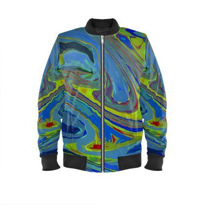 Mens Bomber Jacket - Abstract Diesel Rainbow 3
