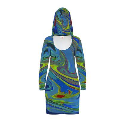 Hoody Dress - Abstract Diesel Rainbow 3