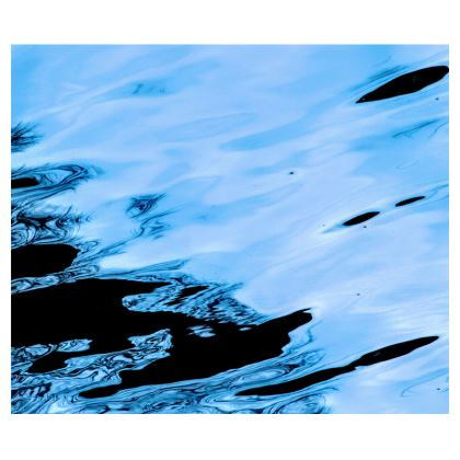 Abstract Electric Blue Espresso Set