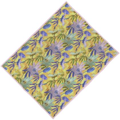Towels, Yellow, Floral, [large double shown]  Passion Flower  Radiance