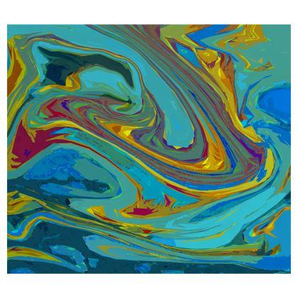 Maxi Skirt - Abstract Diesel Rainbow 1
