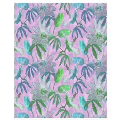 Towels [large shown], mauve, floral  Passion Flower  Purple Passion