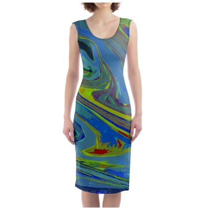 Bodycon Dress - Abstract Diesel Rainbow 3