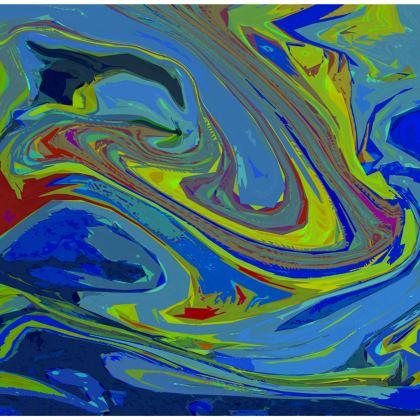 Knee-Length Flared Skirt - Abstract Diesel Rainbow 3