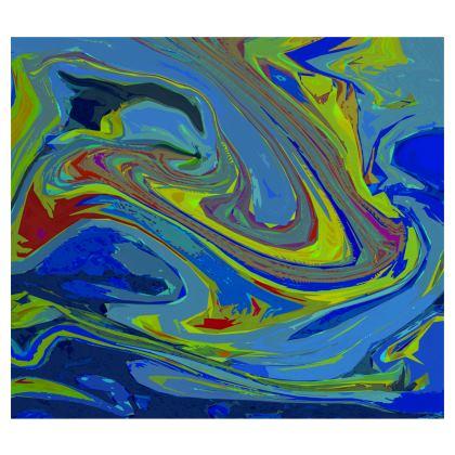Midi Skirt - Abstract Diesel Rainbow 3