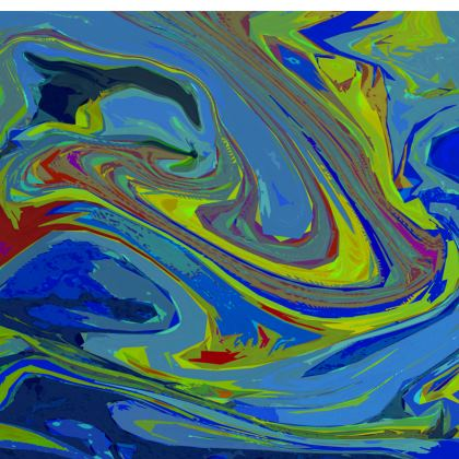Short Slip Dress - Abstract Diesel Rainbow 3