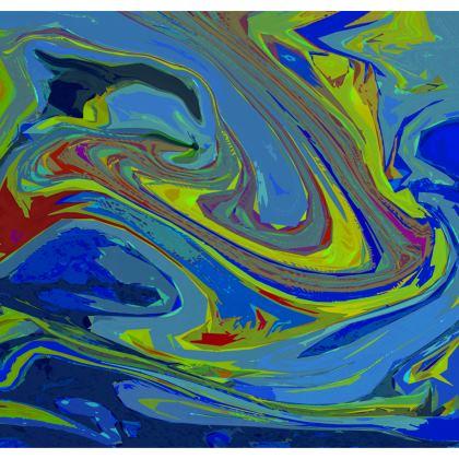 Ladies Tunic T Shirt - Abstract Diesel Rainbow 3