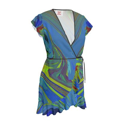 Tea Dress - Abstract Diesel Rainbow 3