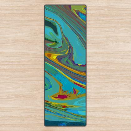 Yoga Mat - Abstract Diesel Rainbow 1