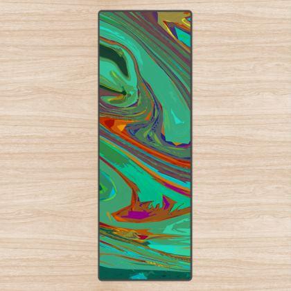 Yoga Mat - Abstract Diesel Rainbow 2