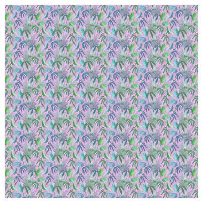 Curtains, Mauve [split pair 228 cm x 228cm 40 mm eyelets]  Passionflower  Purple Passion