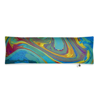 Bolster Cushion - Abstract Diesel Rainbow 1