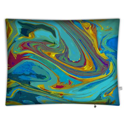 Floor Cushions - Abstract Diesel Rainbow 1