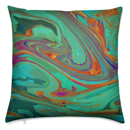Luxury Cushions - Abstract Diesel Rainbow 2