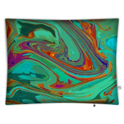 Floor Cushion Covers - Abstract Diesel Rainbow 2