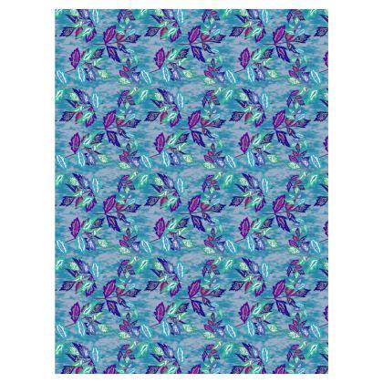 Curtains Blue [D183 cm x W137 cm Pair shown]  Passionflower  Atlantic