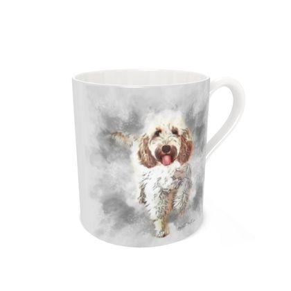 Bone china mug 'Paw Dust' design print