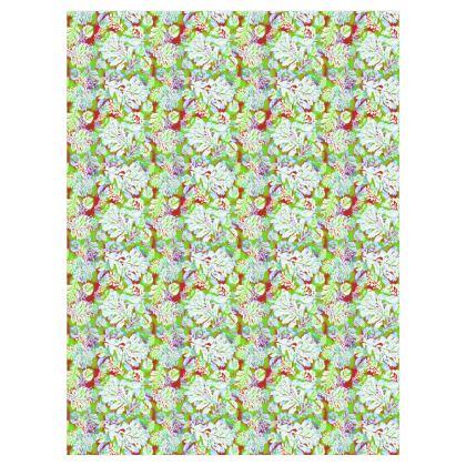 Curtains Green [Pair D183cm x W137cm]  Oaks  Nutcracker