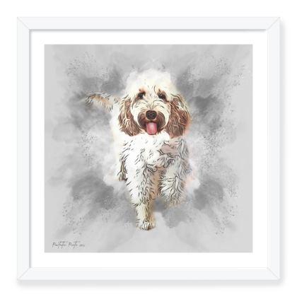 """'Paw Dust' framed art print 16"""" x 16"""""""