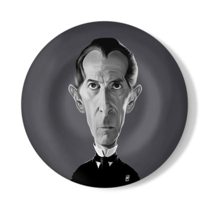 Peter Cushing Celebrity Caricature Decorative Plate