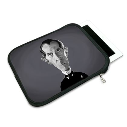 Peter Cushing Celebrity Caricature iPad Slip Case