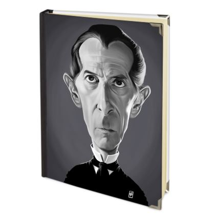 Peter Cushing Celebrity Caricature 2018 Deluxe Diary