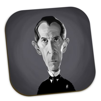 Peter Cushing Celebrity Caricature Coasters