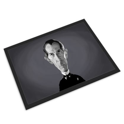 Peter Cushing Celebrity Caricature Door Mat