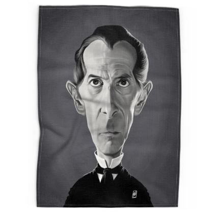 Peter Cushing Celebrity Caricature Tea Towels