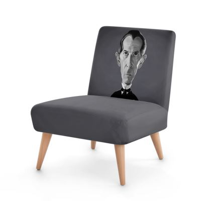 Peter Cushing Celebrity Caricature Occasional Chair