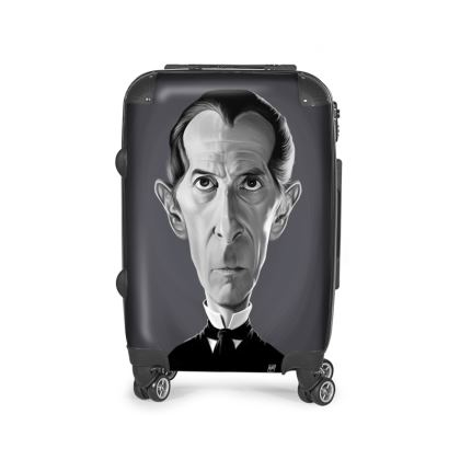 Peter Cushing Celebrity Caricature Suitcase