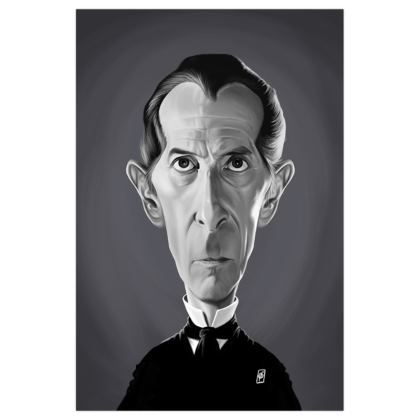 Peter Cushing Celebrity Caricature Art Print
