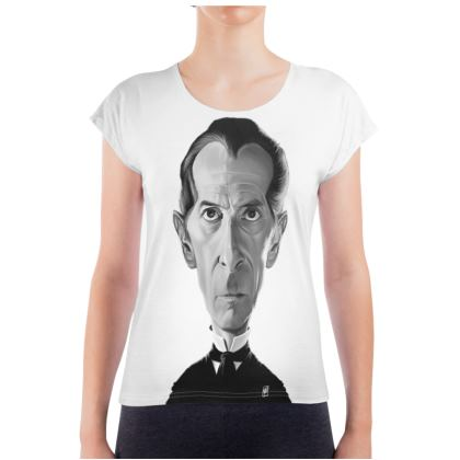 Peter Cushing Celebrity Caricature Ladies T Shirt