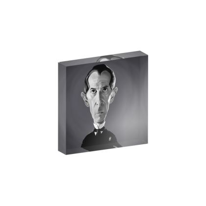 Peter Cushing Celebrity Caricature Acrylic Photo Blocks