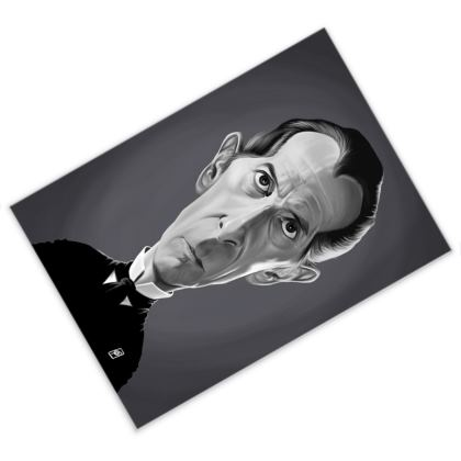 Peter Cushing Celebrity Caricature Postcard