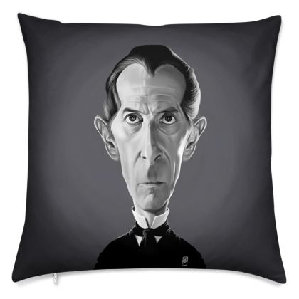 Peter Cushing Celebrity Caricature Cushion