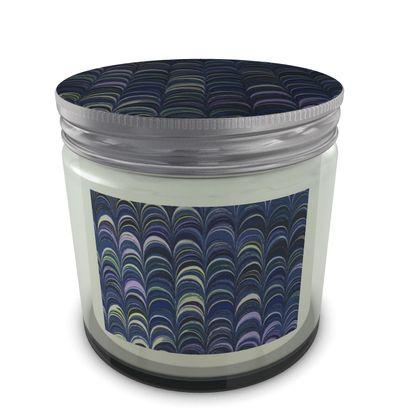 Large Set Candle In Jar - Around Ex Libris Blue Remix (1800 -1950)