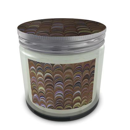 Large Set Candle In Jar - Around Ex Libris Brown Remix (1800 -1950)