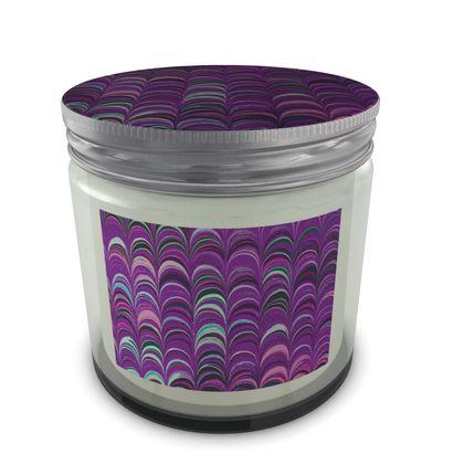 Large Set Candle In Jar - Around Ex Libris Pink Remix (1800 -1950)