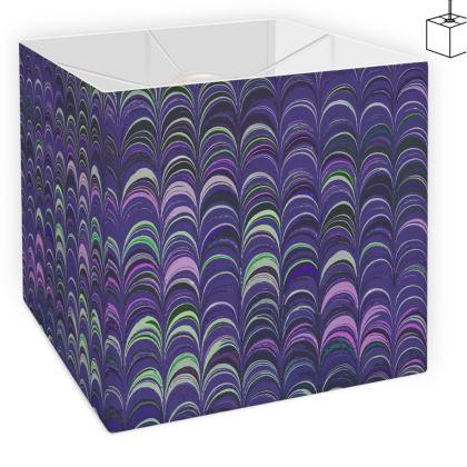 Square Lamp Shade - Around Ex Libris Purple Remix (1800 -1950)