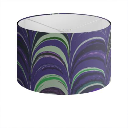 Drum Lamp Shade - Around Ex Libris Purple Remix (1800 -1950)