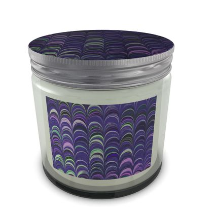 Large Set Candle In Jar - Around Ex Libris Purple Remix (1800 -1950)