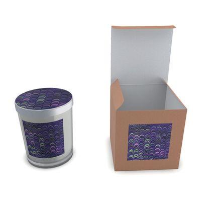 Set Candle In Glass - Around Ex Libris Purple Remix (1800 -1950)