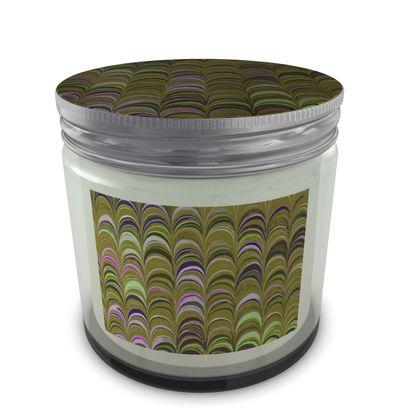Large Set Candle In Jar - Around Ex Libris Yellow Remix (1800 -1950)