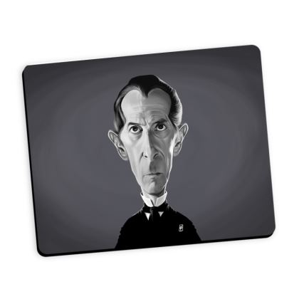 Peter Cushing Celebrity Caricature Mouse Mat