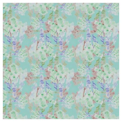 Voile Curtains, Teal, Floral [single panel format 183 cm x 183 cm]     Moonlight   Serenity