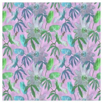 Voile Curtains Mauve [ single panel D183 X W183 ]    Passionflower  Purple Passion